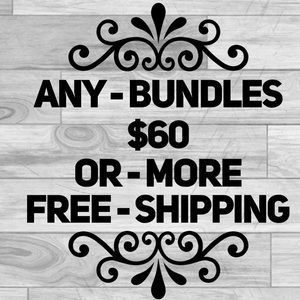 Bundle of $60 or more get free shipping